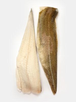Atlanto menkės filė su oda dydis 250-450g/filė. Kaina 13,00 €/kg