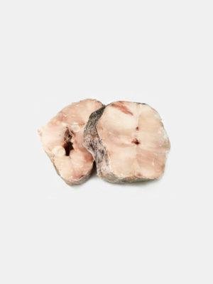 Jūrų lydekos-Heko pjaustiniai su oda ir kaulu dydis 150-250g/gab.