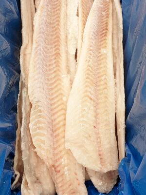 Dvipelekės jūrų lydekos filė be odos dydis 700-900g/filė. Kaina 10,50 €/kg