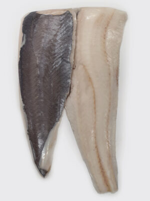 Melsvosios Menkės filė su oda (lot.Macruronus novaezelandiae) dydis ~400-700g/filė vnt. Kaina 11,80 €/kg